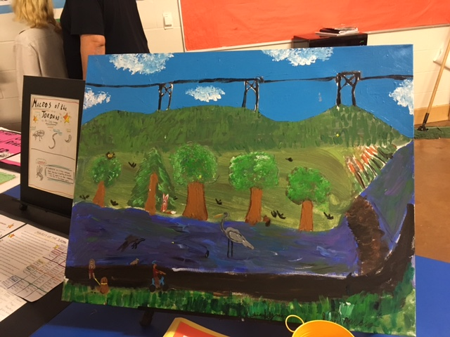 Painting of the Jordan River Ecosystem