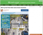 Bike Lanes Boost Business website